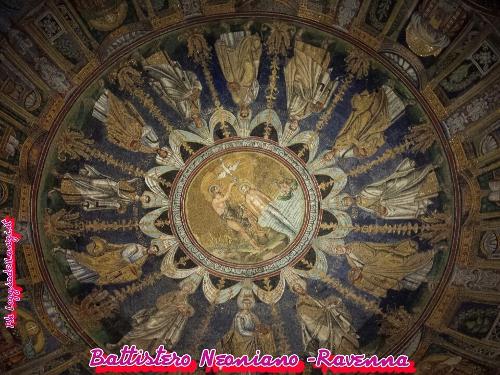 Mosaico, raffigurante il Battesimo di Cristo al Battistero Neoniano