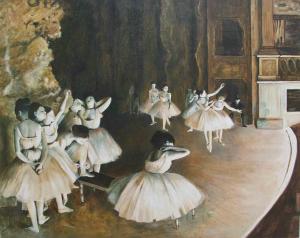 E. Degas, Répétition d'un ballet sur la scène, olio su tela, 1874, Museo d'Orsay, Parigi