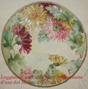 Foto di un piatto del museo Richard Ginori di Doccia