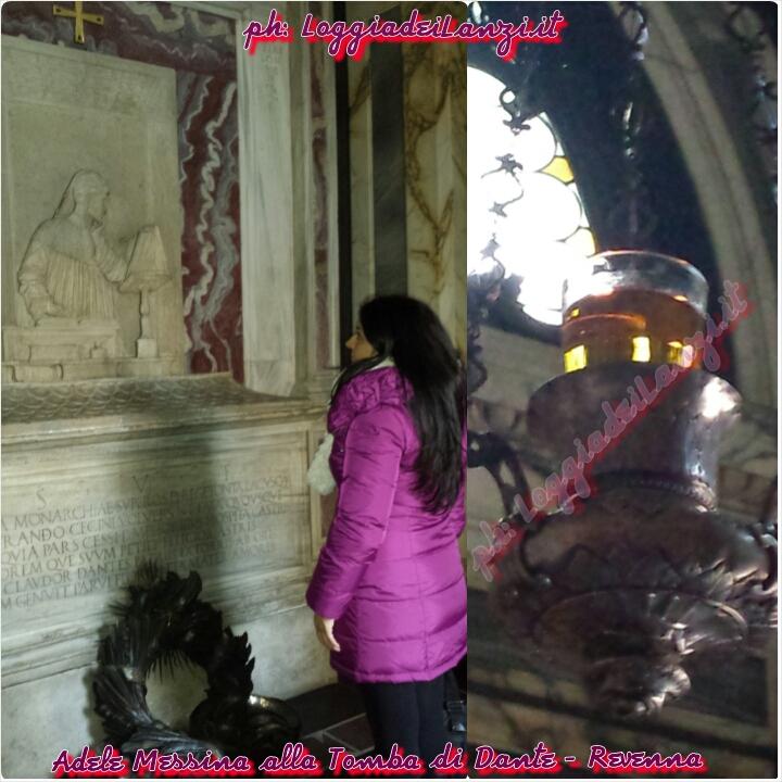 Visita alla Tomba di Dante. Olio d'oliva dei colli  toscani nella lampada per tenere vivo il fuoco