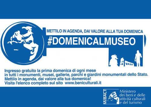 #Domenicalmuseo! musei gratuiti