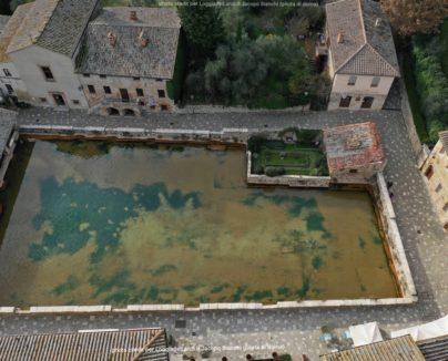 Bagno Vignoni con il drone